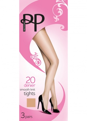 Pretty Polly Everyday 20D Smooth Knit Tights 3 Pack